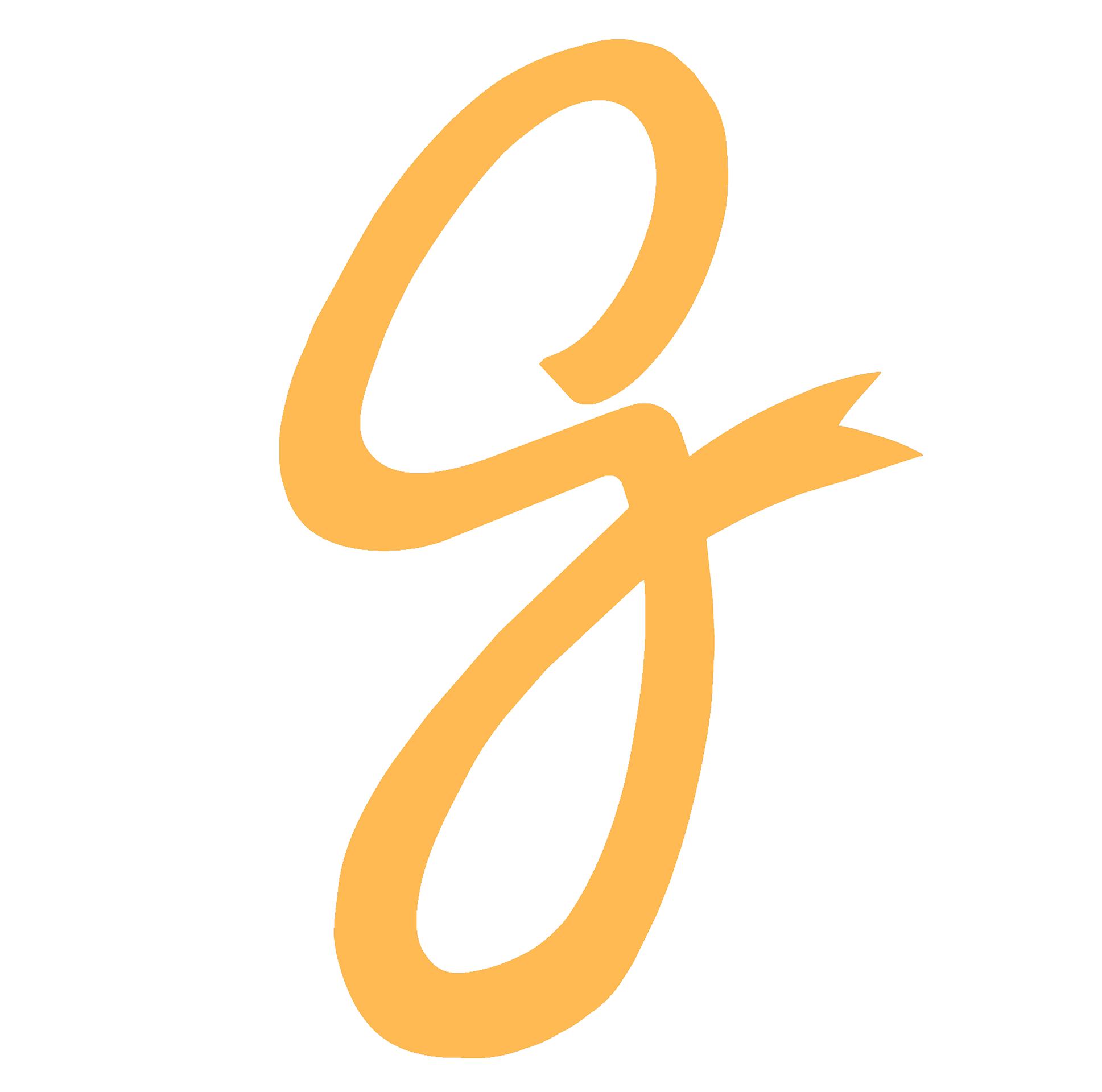 Givo's G    Orange on White