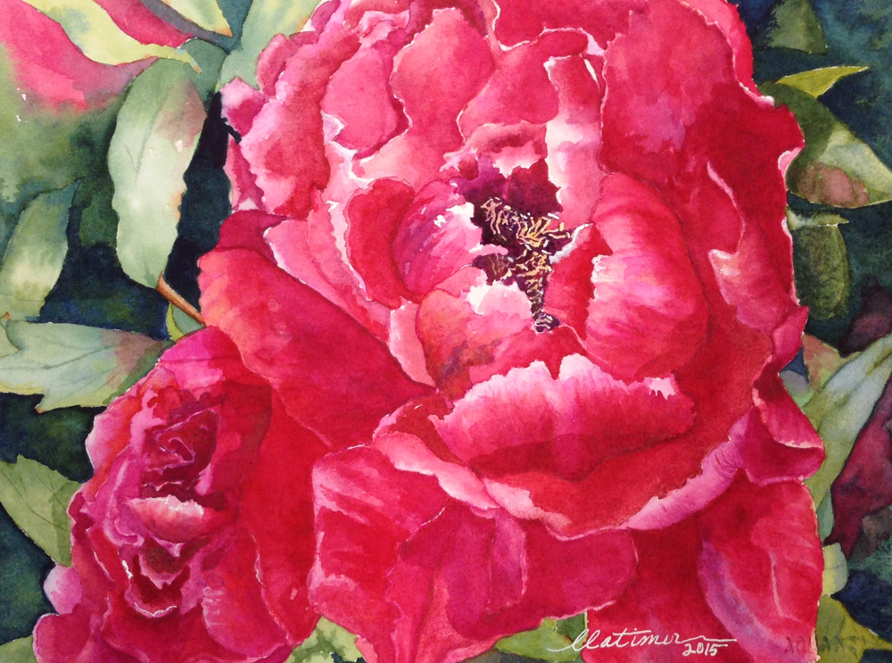 Linda Smith Latimer: Red Peony