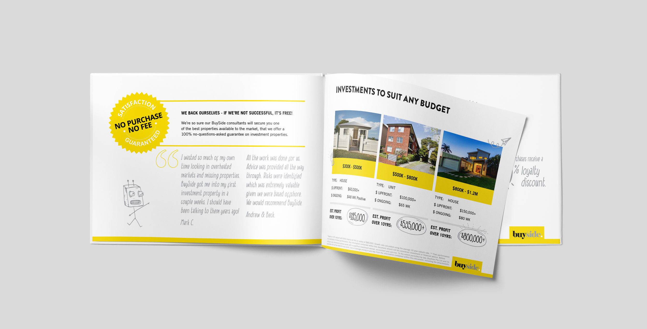 BuySide Case Study - Strategy / Copy-writing / Graphics / Booklet design