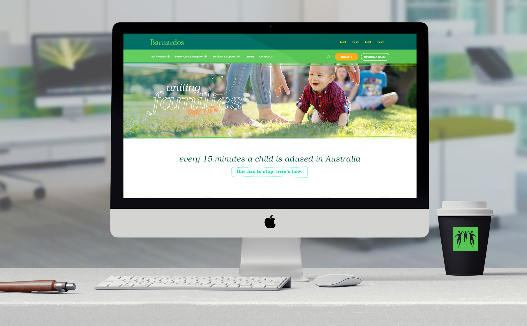 Barnardo's Australia - Brand workshop / stylescape / website