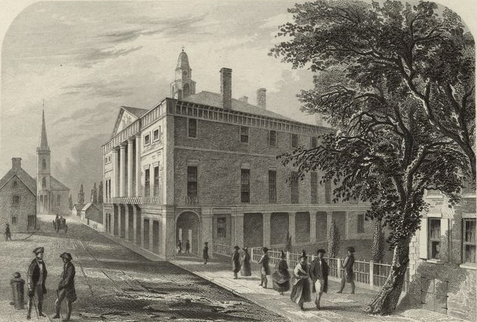 Federal Hall of New York City where the Treasury Act was written.