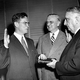 William Martin being sworn in as Chairman