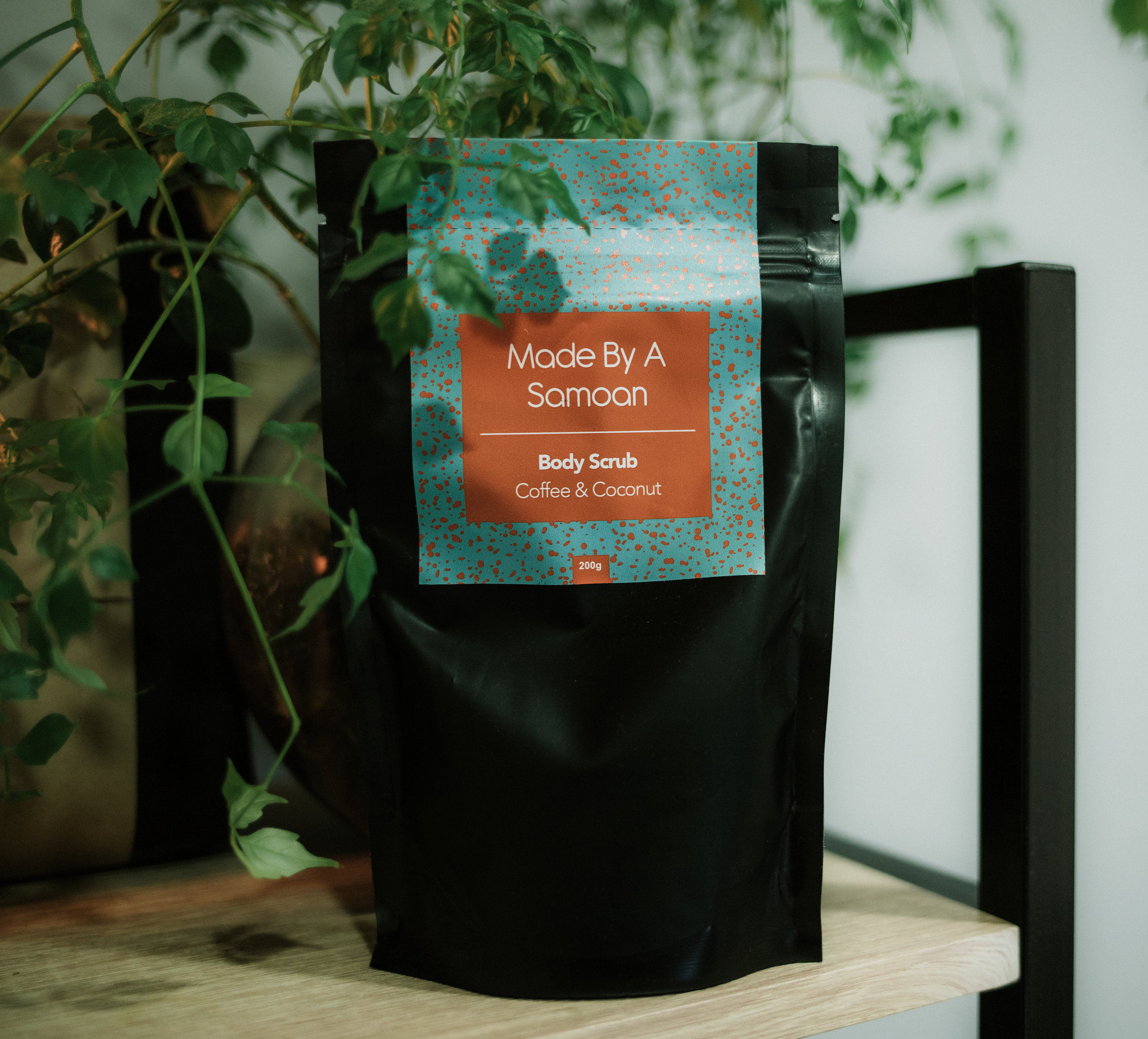 Made by a Samoan Coffee Scrub | $25 - I'm a rich body scrub packed full of natural antioxidants. It's my job to get rid of dry skin and moisturise at the same time.Local roasters L'affare share the love with their organic coffee beans from Peru.Use this lil' bag o' goodness in the shower 2-3 time a week on clean skin & rinse well.100% natural, vegan & always cruelty free.NZ made!*available in coconut or lemongrass scents.What's Inside:Organic Fairtrade Single Origin Coffee Beans (Peru)Organic Fairtrade Golden Raw Sugar (India)Organic Raw Virgin Coconut Oil (Samoa)Natural Extra Virgin Olive Oil (NZ)Natural Vitamin E (Argentina)