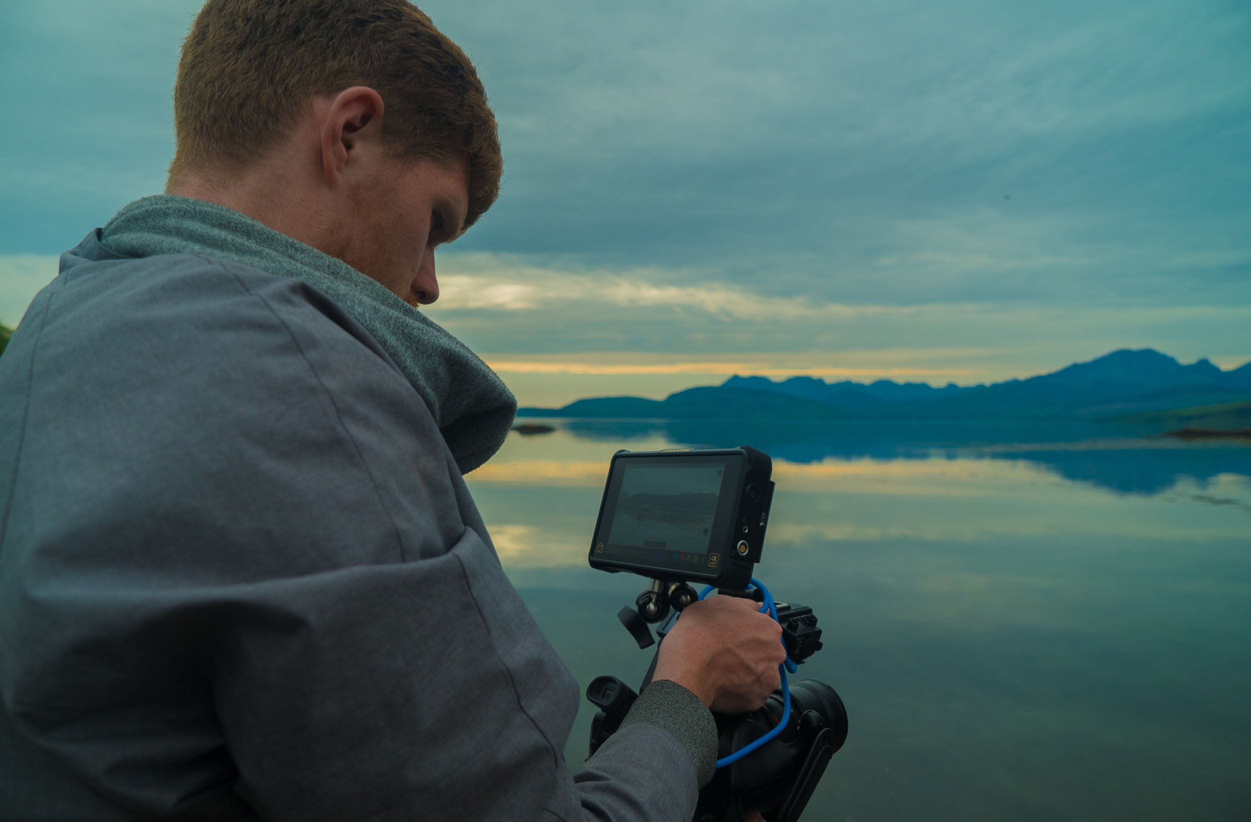 Sean with the FS5 and Atomos