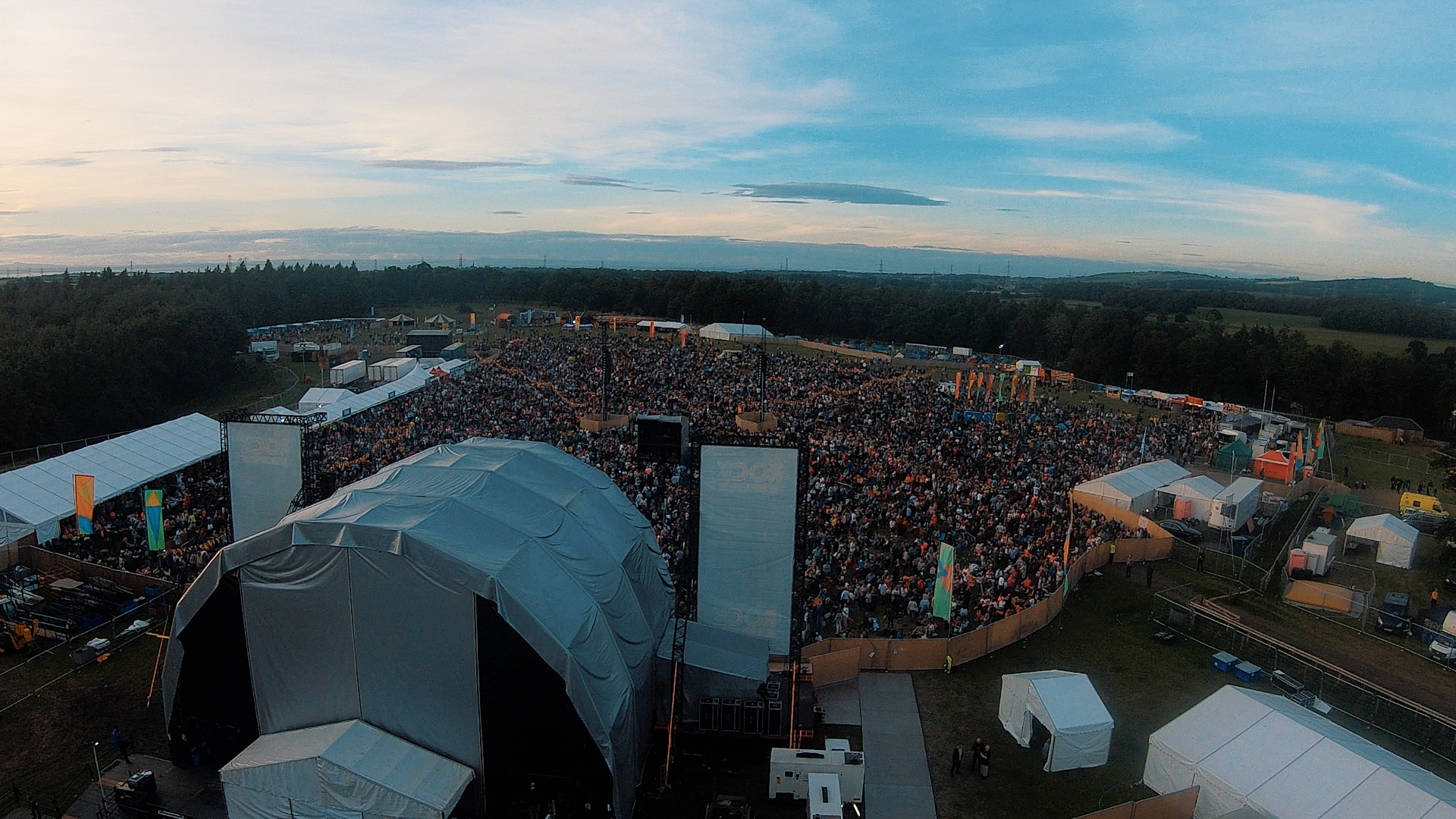 View from Backstage at Let's Rock Scotland