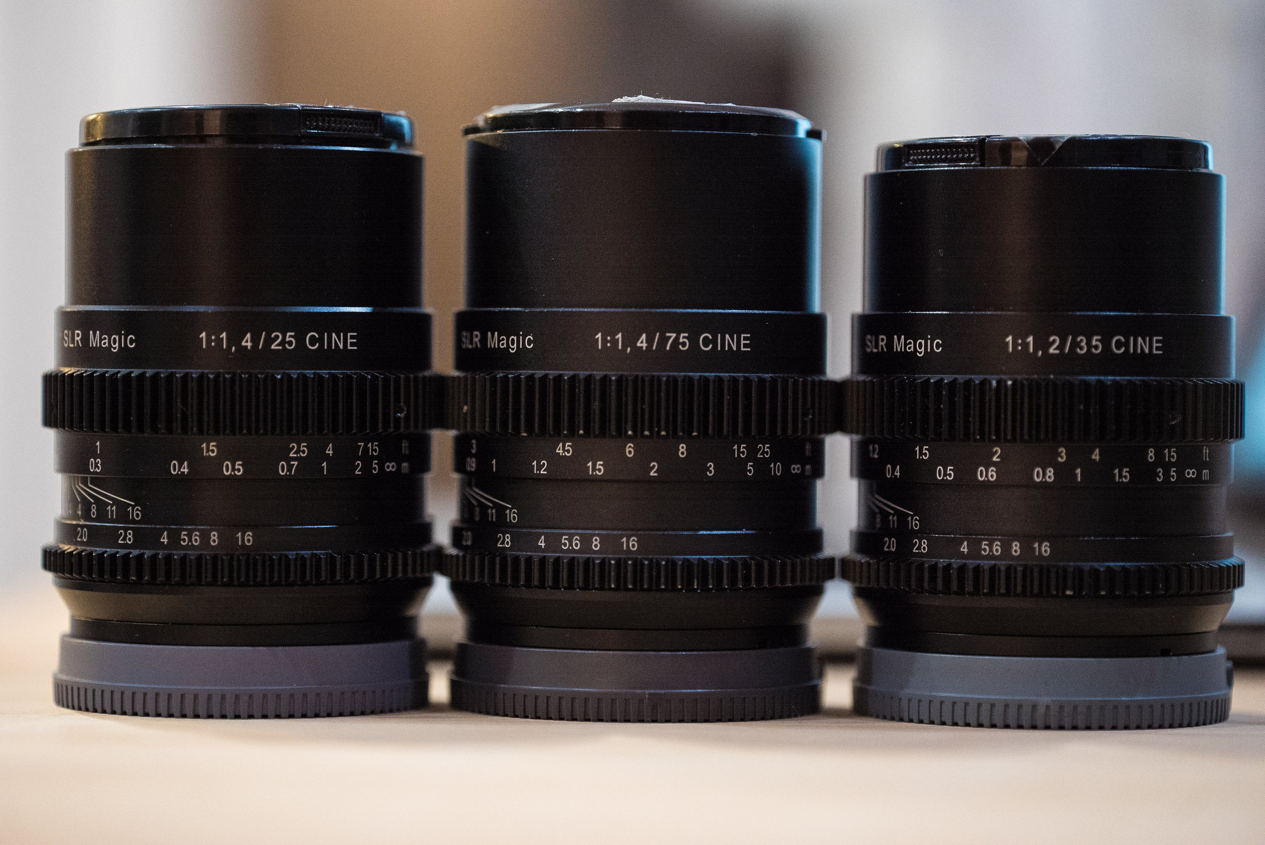 The Magic Set - 25mm, 75mm and 35mm.