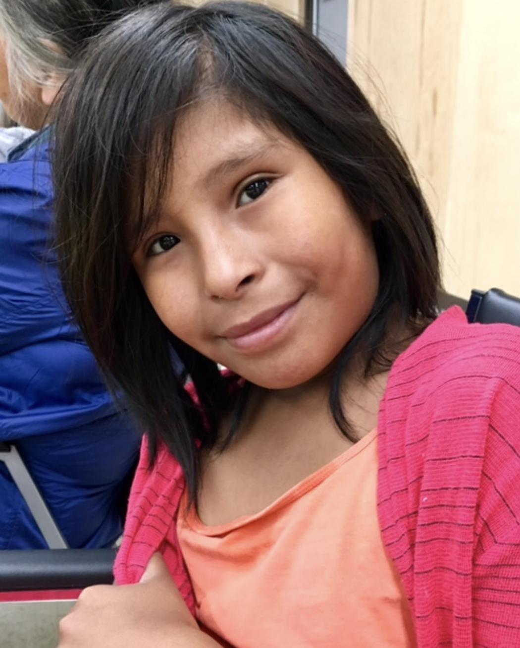 This is Clayla, one of the children that love hanging out at KASKii.Clayla loves to sew and is learning to operate the industrial machines.