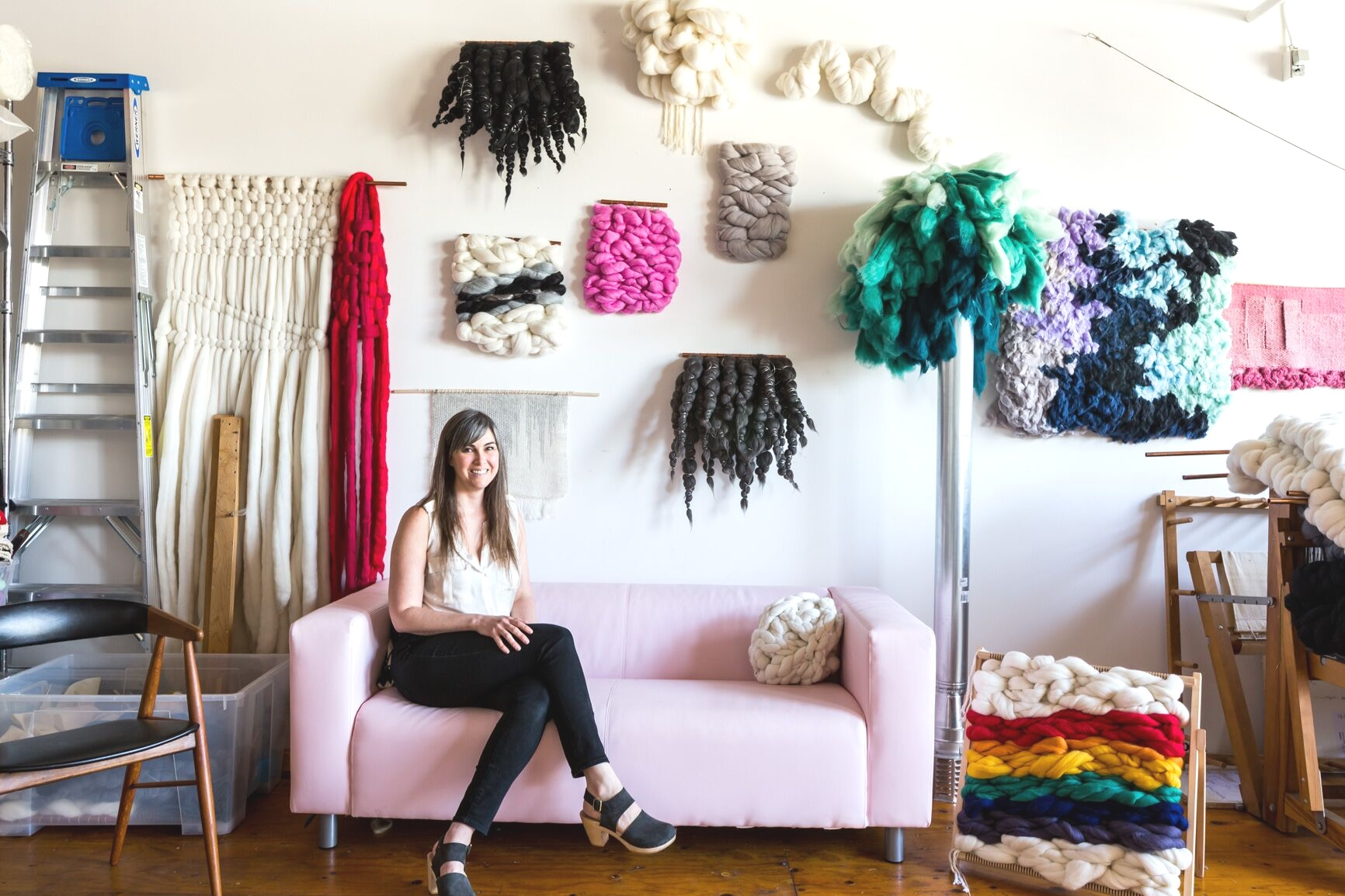 7x7 | April 2017   Inside the Instagram-Worthy House of Oakland Fiber Artist Meghan Shimek