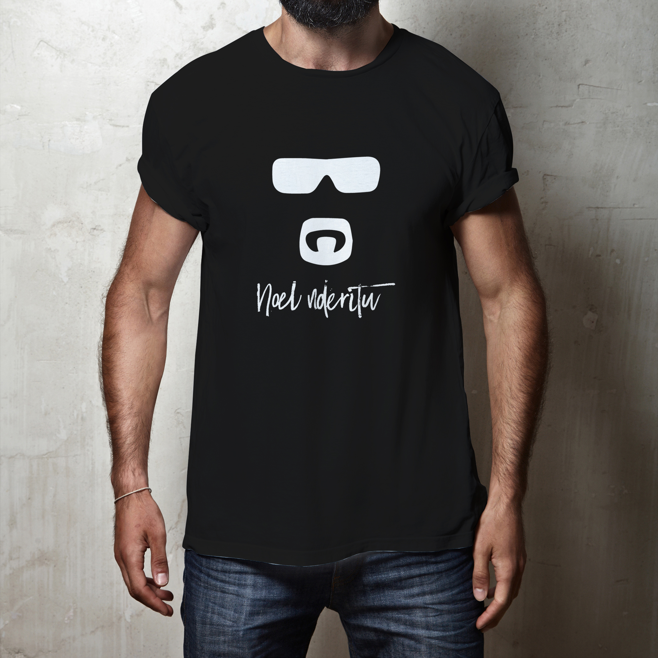 Men's Tshirts -BLACK @KSH.1,000 (S,M,L & XL)