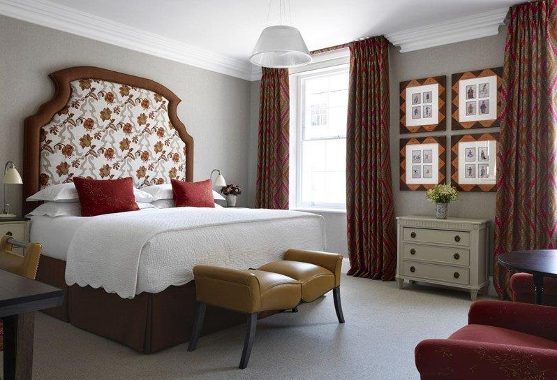 Accent chairs and bed cushions created for Firmdale Hotels - The Haymarket Hotel.
