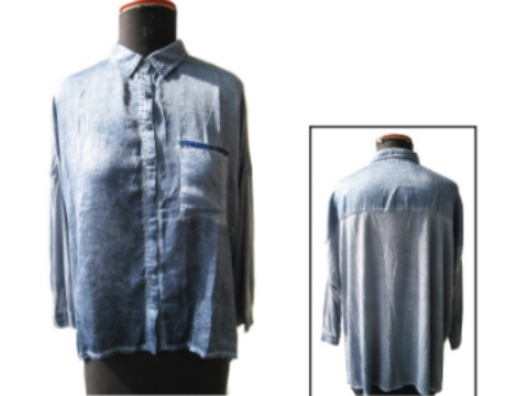FP-314 Pigment washed silk shirt