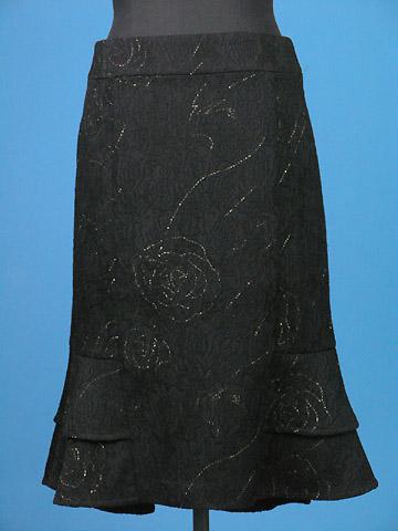 FP-165 Jaquard floral skirt