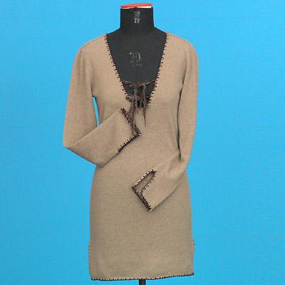 FP-54 Deep V cashmere dress