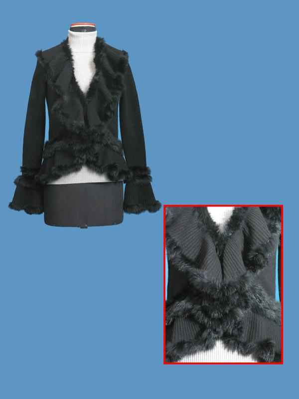 FP-179 Fur Trim Cardigan