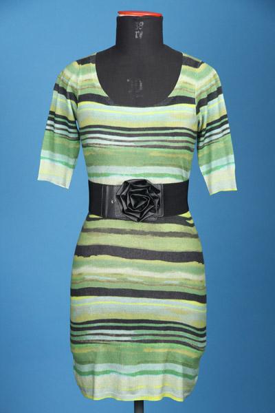 FP-273/B Digital printed stripes + PU elastane belt