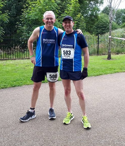 Robin Alexander and Ryan Armstrong pictured before the IAU 24 Hour World Championships