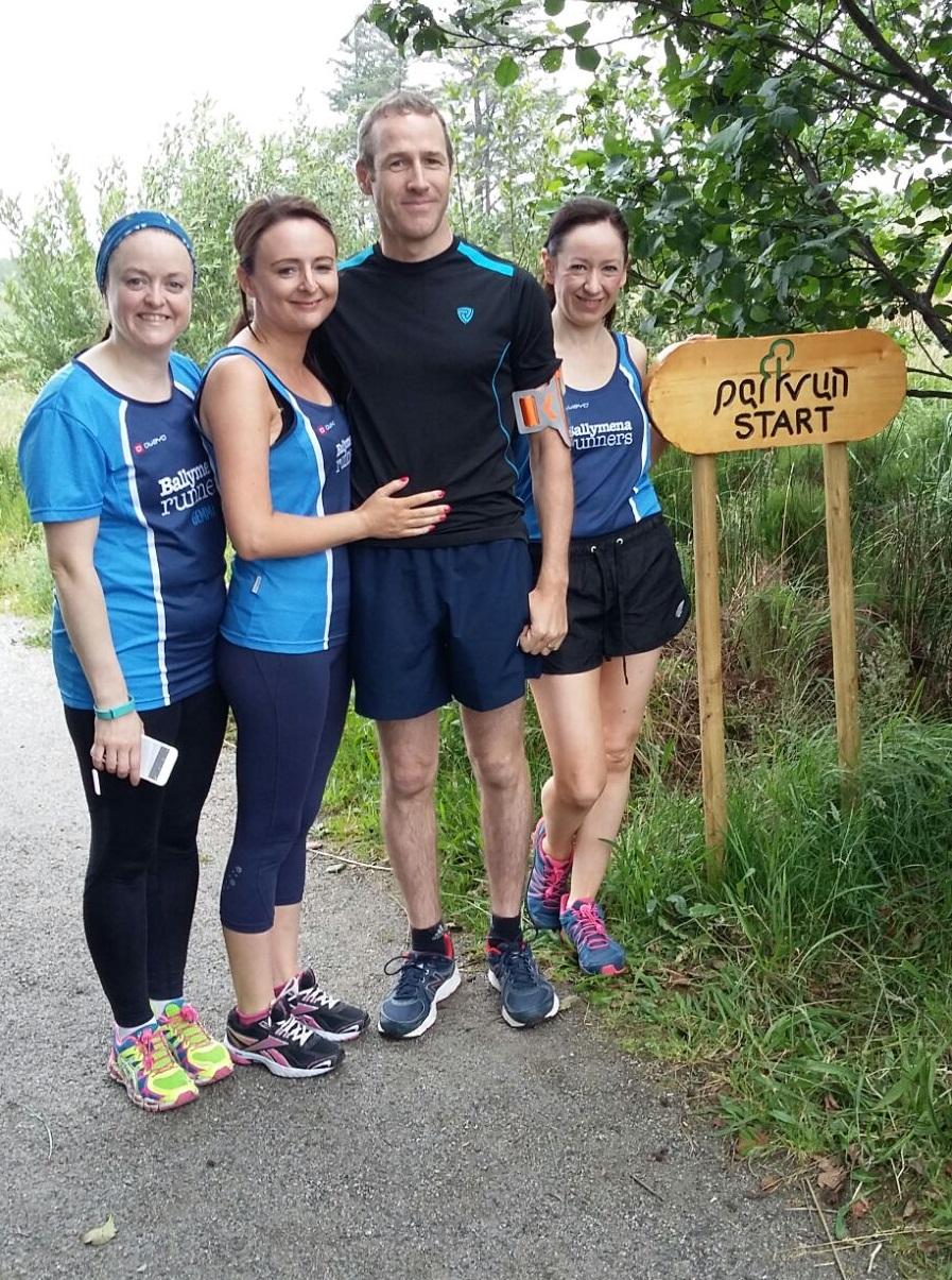 Gemma, Elaine, Kieran and Sinead takeover the Dungloe parkrun