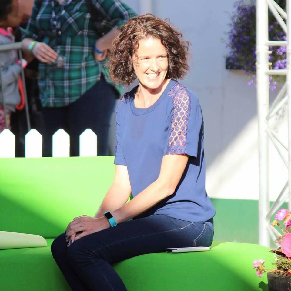 Gillian on The One Show sofa