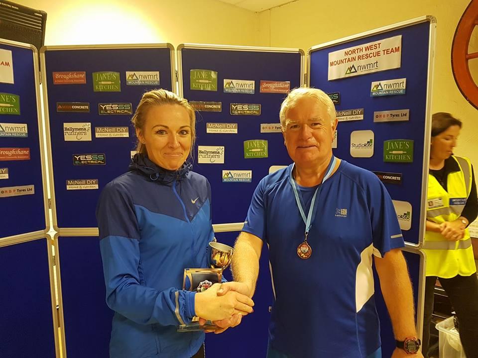 Paula Worthington, winner of the Broughshane 5k