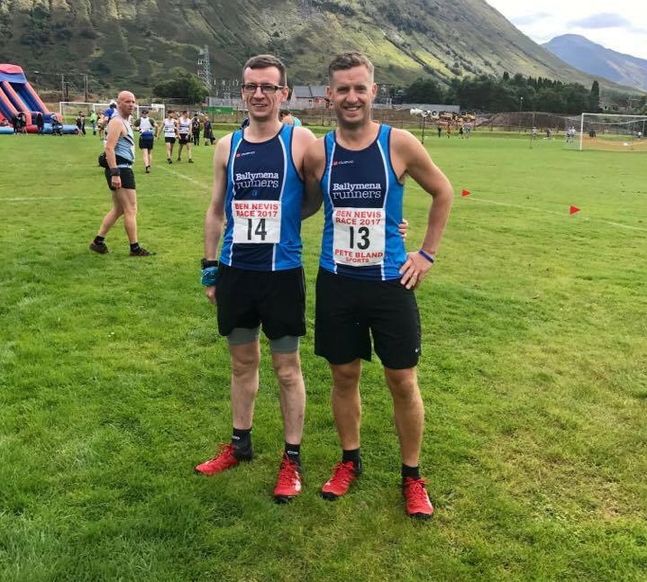 Connor Reid and Tim Lowry at the foot of Ben Nevis
