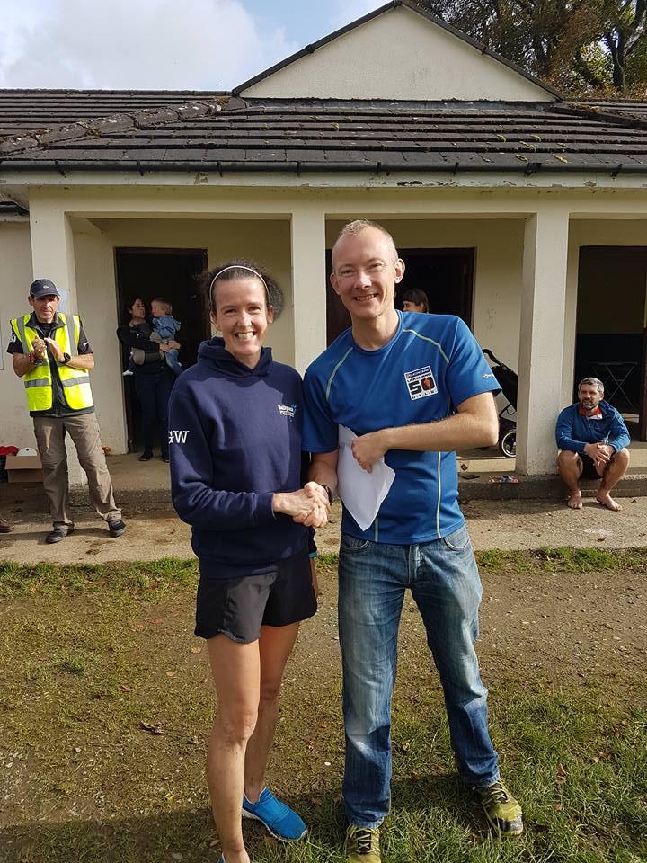 Gillian Wasson, second lady in the Run The Ridge 20k