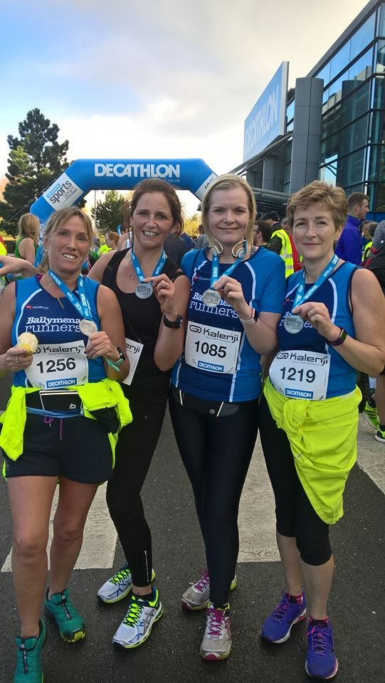 Sarah Woods (1256), Stephanie Johnston (1085) and Lorraine Craig (1219) all recorded PB's at the Decathlon 10k