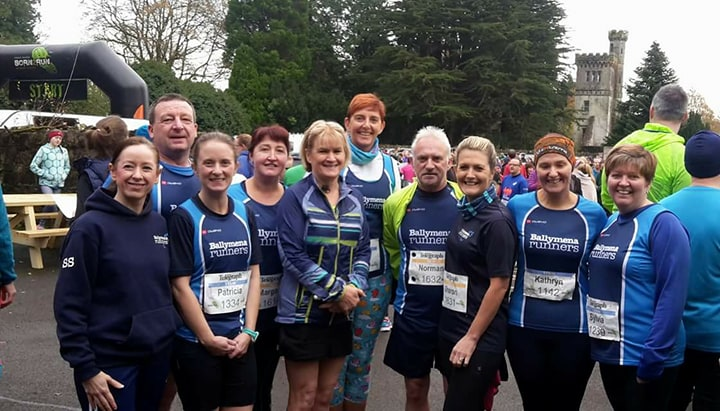 Some of the Ballymena Runners squad getting ready for Drum Manor