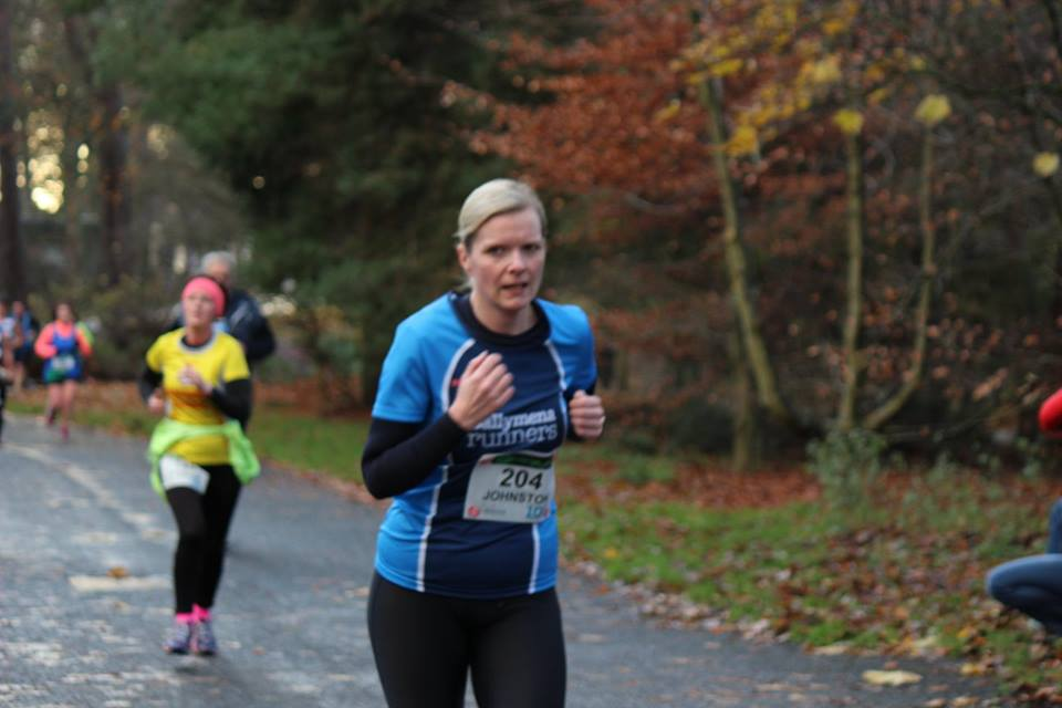 Stephanie Johnston on her way to a 10k PB in the Seeley Cup
