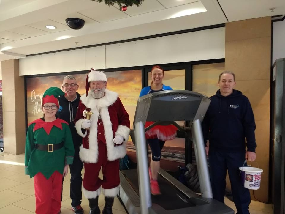 Look who turned up to support Ballymena Runners in the Tower Centre