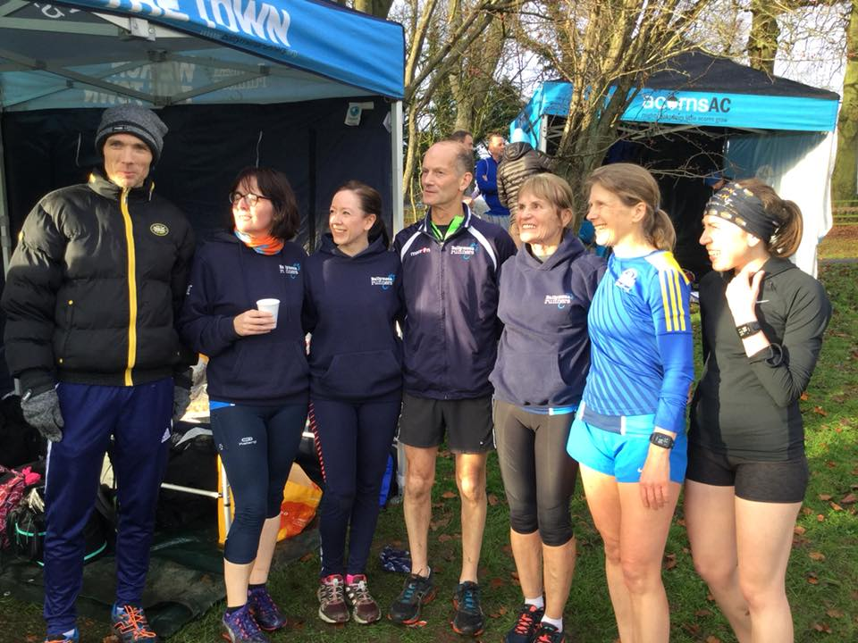 A selection of Ballymena Runners prepare for cross country action at Sixmilewater Park