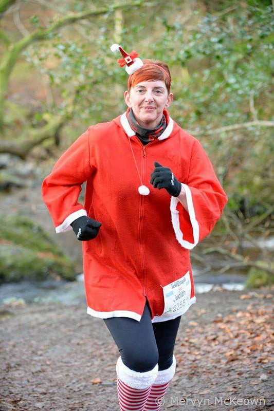 Judith Irwin gets into the festive spirit at Kilbroney on Saturday