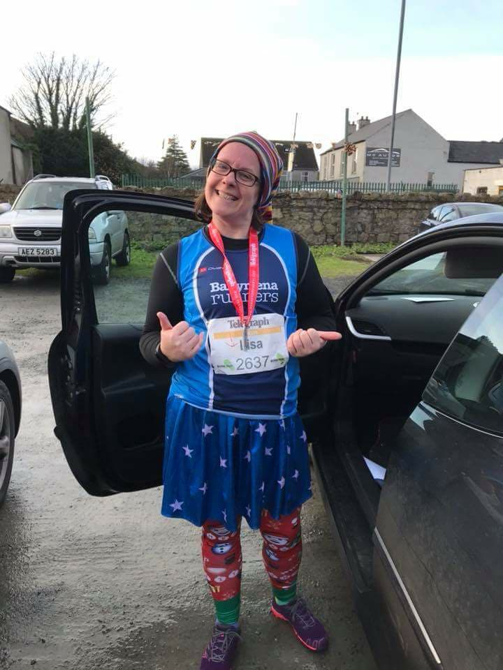 Lisa Kirkwood wrapped up well for the Run Forest Run 5k in Rostrevor