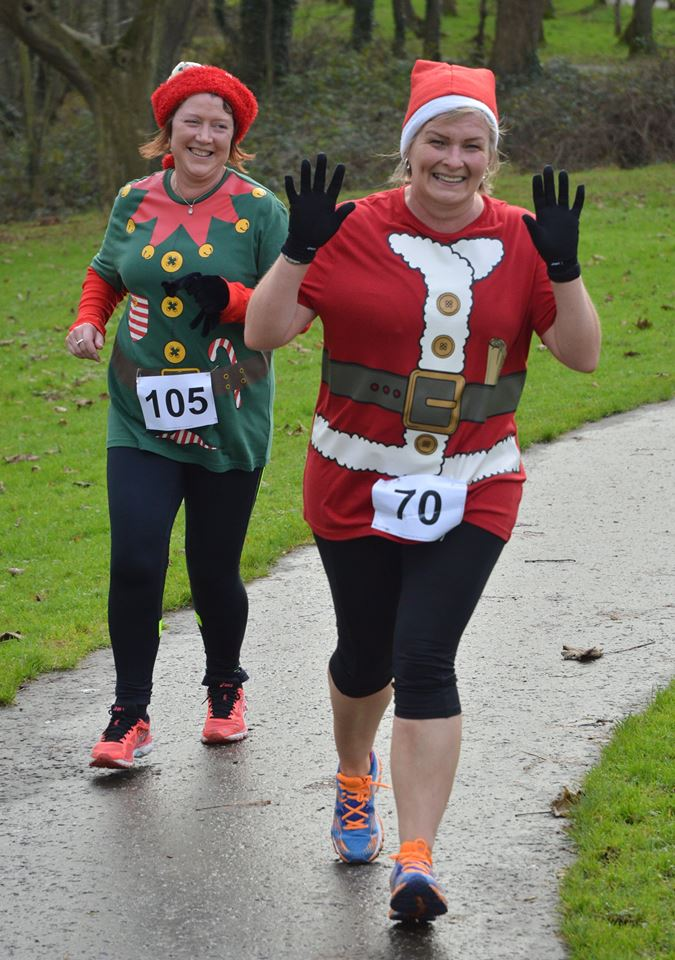 Kim Close and Grace Snoddy in action at Hazelbank on Christmas Eve