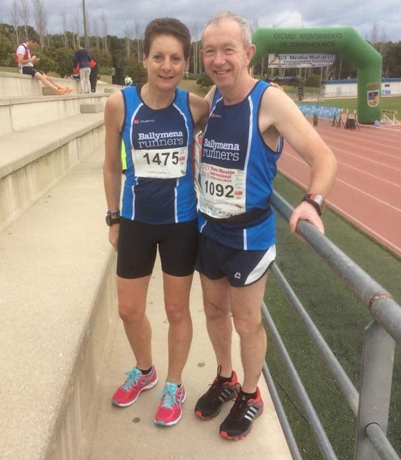 Amanda Strange and Sandy McDermott at the Torremolinos Half Marathon