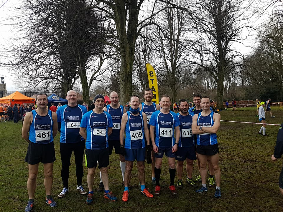 Ballymena Runners ahead of the Stormont Cross Country event