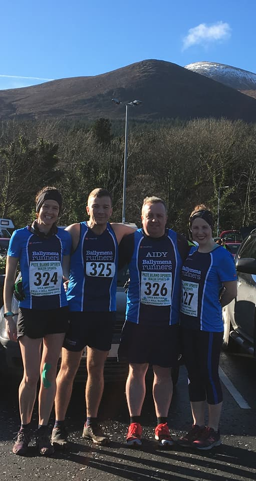 Gillian Wasson, Mark Alexander, Aidy Dodds and Emma Donnelly competed in the Mournes MRT 5 Mile Trail Race