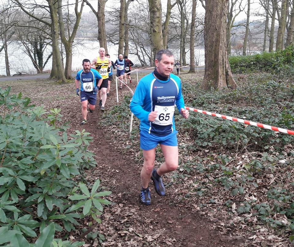Alastair Donaghy gives chase to Nigel Davidson at Lurgan Park