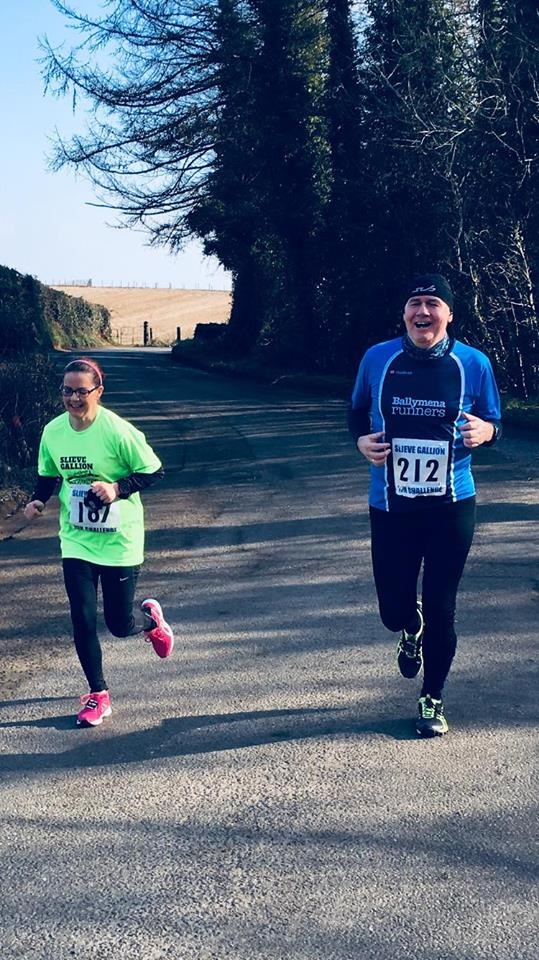 Terry Foley competes in the Slieve Gallion 10k