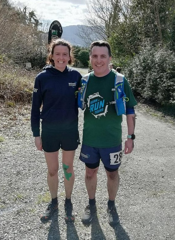 Gillian Wasson and Jonny Graham at The Fallows Mountain Race