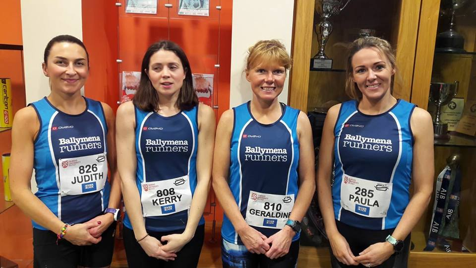 Judith Brown, Kerry Bamber, Geraldine Quigley and Paula Worthington at the Queen's 5k