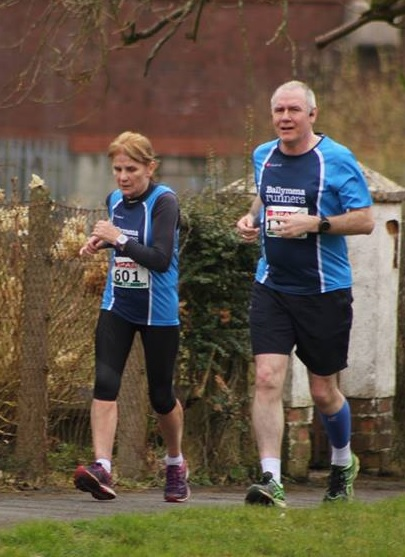 Brigid Quinn and Terry Foley looking strong during the Omagh Half Marathon