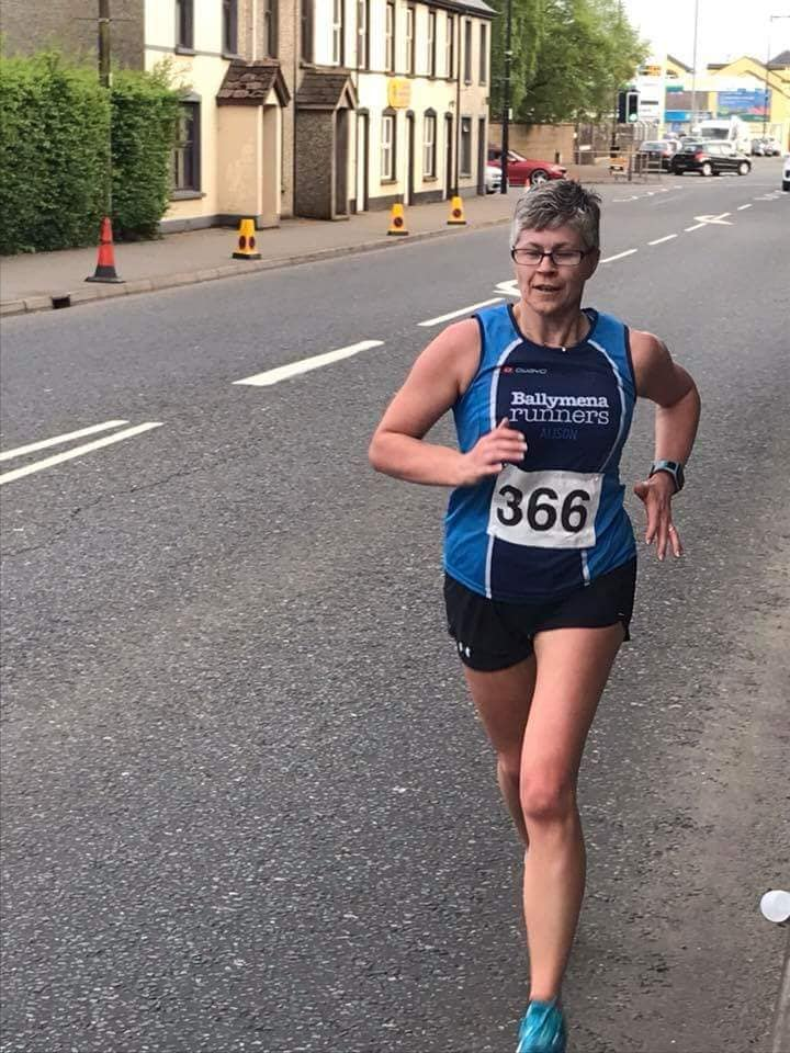 Alison Foster powers her way to a personal best at the Maghera 10k