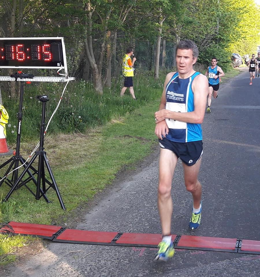 Ben Morrow crosses the line in Buncrana