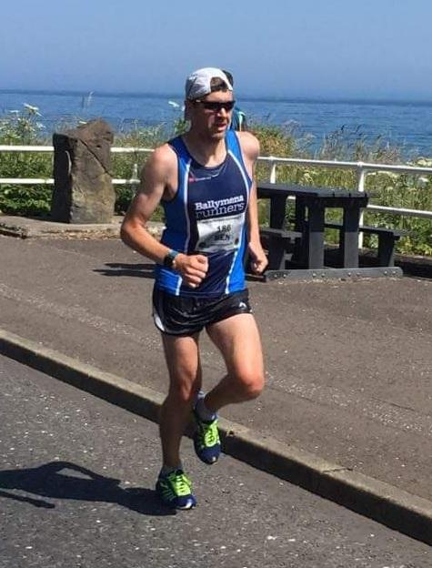 Ben Morrow powers his way to victory in the Antrim Coast Road Marathon