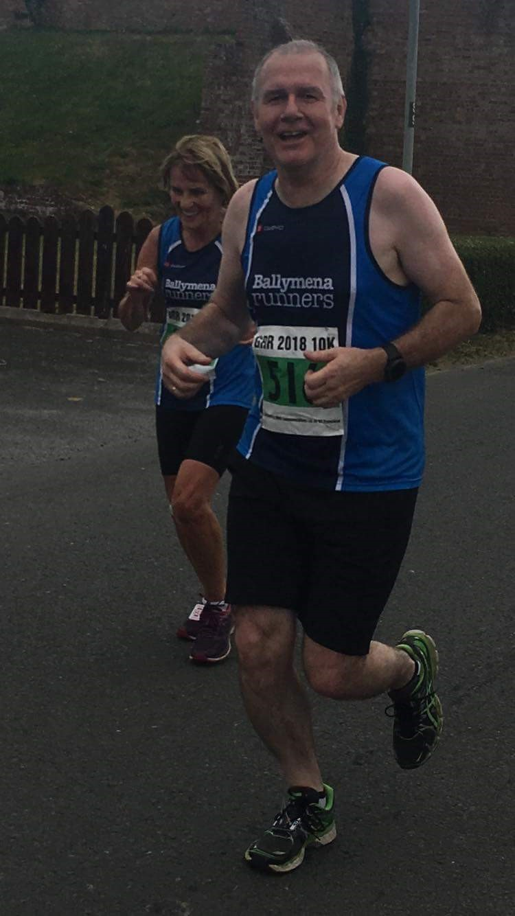 Brigid Quinn and Terry Foley enjoying themselves during the Great Rossa Run 10k
