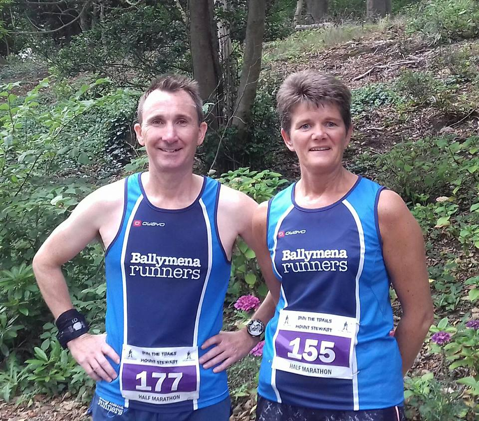 Rodney Agnew and Linda Petticrew about to tackle the Mount Stewart Half Marathon