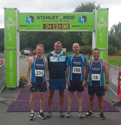 Stanley Reid Memorial 5-mile Classic [L-R] David Rainey, Peter Fleming, John Robinson, Alastair Donaghy, missing from pic (Robert Meban)