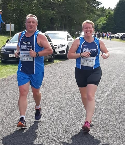 Aidy Dodds and Heather Birrel at the Dambusters Half Marathon on Saturday