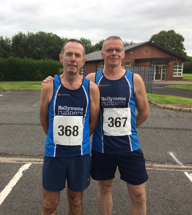 Paul Connolly and John Donnelly at the Dessie Run 10k