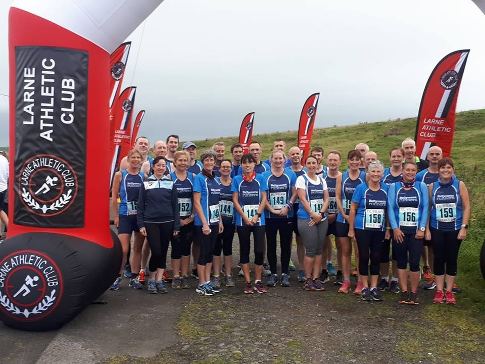 Ballymena Runners line-up before the Inter-Club event